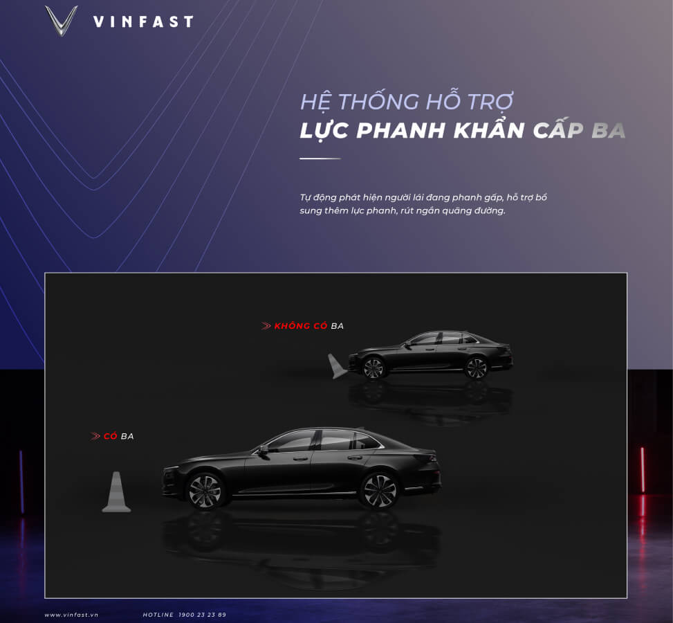 hinh anh an toan cong nghe VinFast Lux A2.0 BA ho tro phanh khan cap